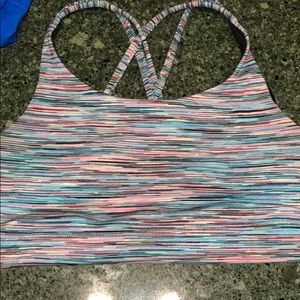 athleta sports bra strappy